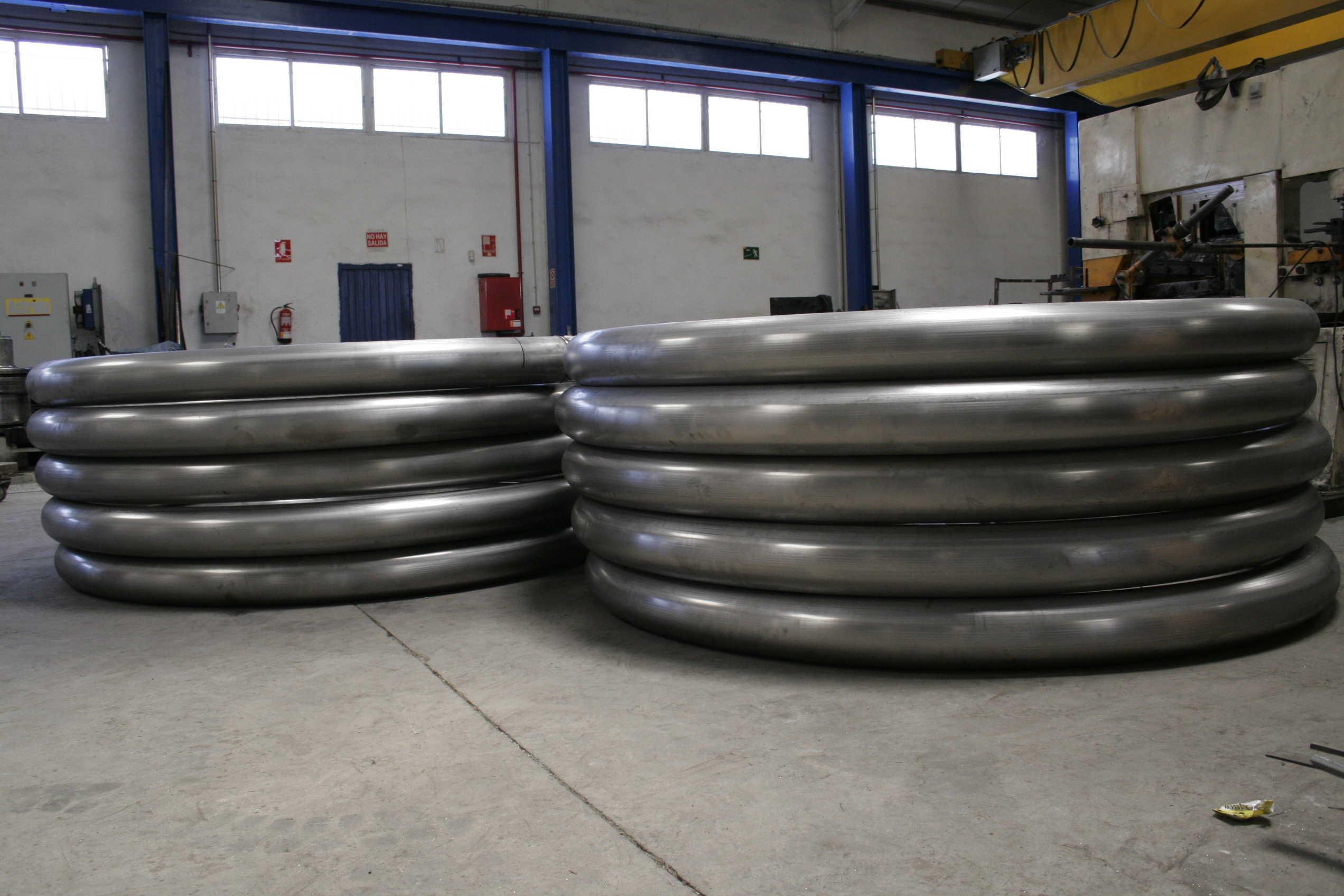 Curvado de tubos gran formato