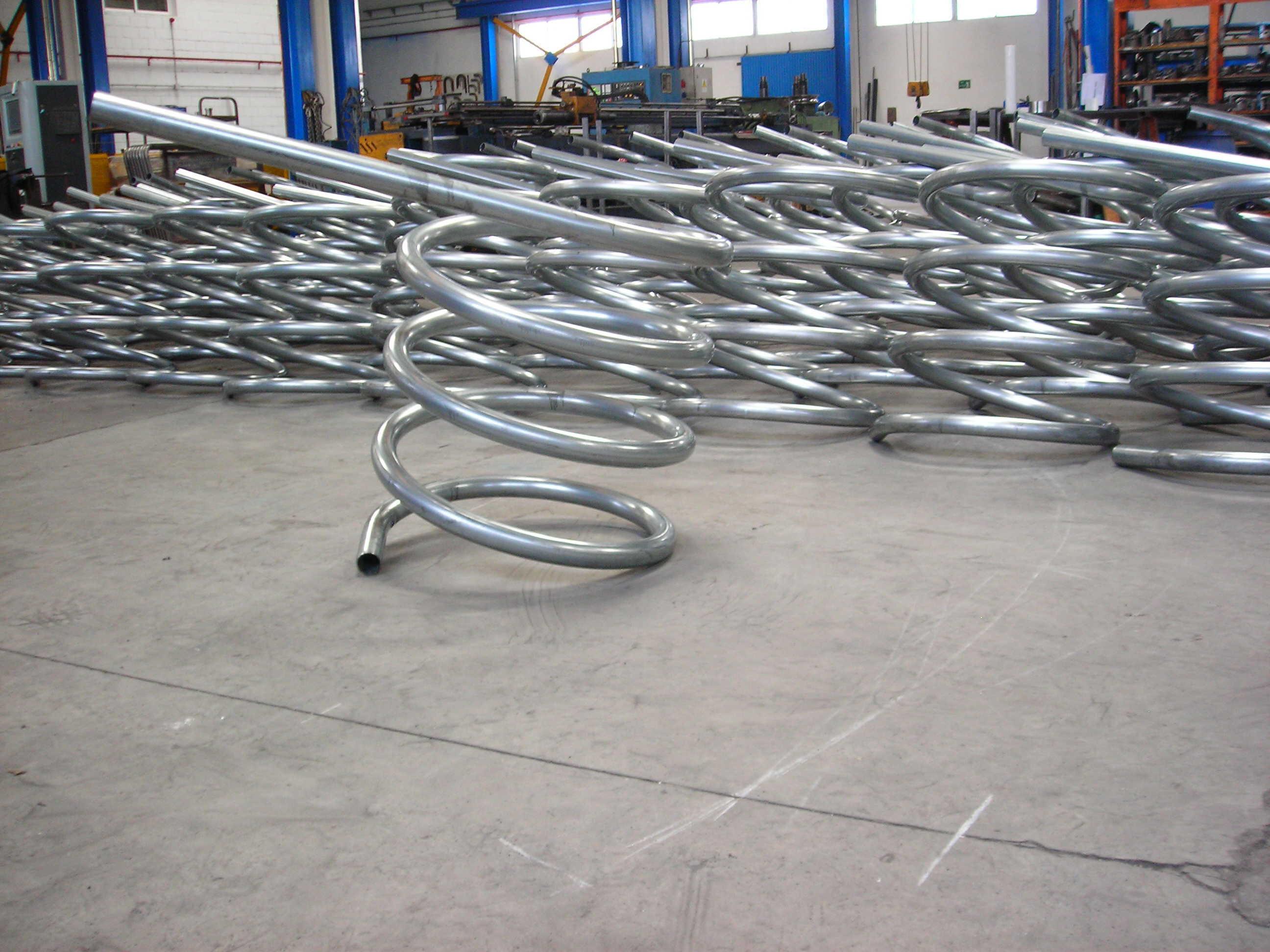 fabricación de serpentines