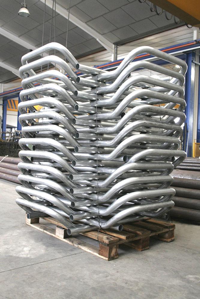 curvado de tubo galvanizado