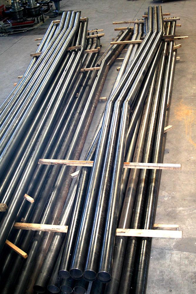 Curvado tubos