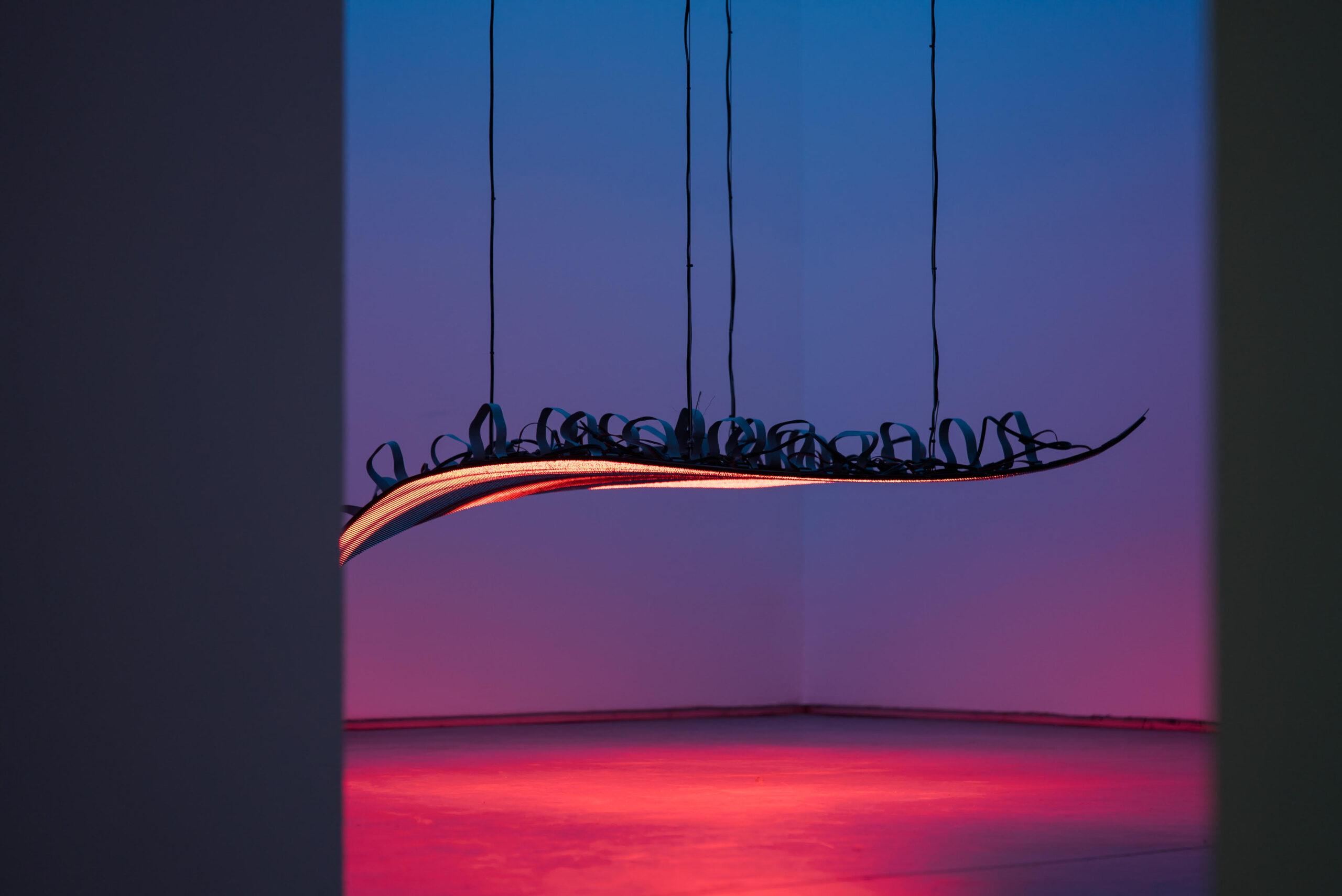 """Obra de la serie """"Echo"""" de Daniel Canogar. Fotografía de Jorge Mirón"""